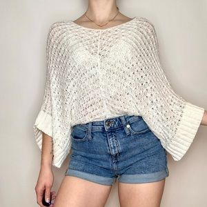 Absolutely Boho Bat Wing Knit Scoop Neck Sweater